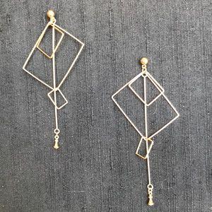 New Gold tone Modern Earrings.